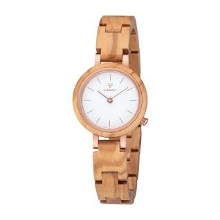 Kerbholz Uhren in Zwickau: Damenuhr Matilda-Olivewood-Rosègold 4251240409375