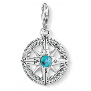 """Thomas Sabo Charm Silber """" Kompass Türkis"""" 1773-646-17"""