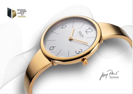M&M Uhren in Zwickau: Damenuhr Spange Edelstahl IP Gold M11944-033 Circle Lin...