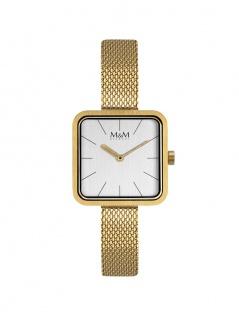 M&M Uhren in Zwickau: Damenuhr Square Line Gold M11951-212