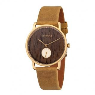 Kerbholz Uhren in Zwickau: Damenuhr Frida Walnut Mustard 4251240404165
