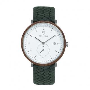 Kerbholz Uhren in Zwickau: Armbanduhr Anton Walnut Woven Olive 4251240411576