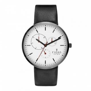 Fjord Uhren in Zwickau: Herrenuhr Lederband schwarz 927003518 Multifunktionsuhr