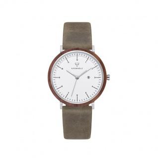 Kerbholz Uhren in Zwickau: Armbanduhr Amelie Walnut Olive 4251240414355