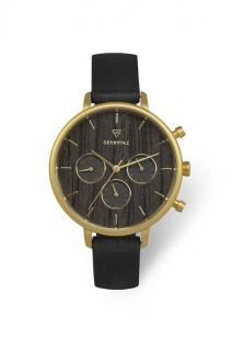 Kerbholz Uhren in Zwickau: Geschenkbox Chronograph Helene Gold Darkwood Black...