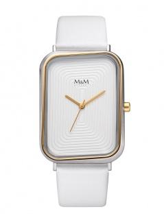 M&M Uhren in Zwickau: Damenuhr Lederband M11947-757, Square Line dancing square