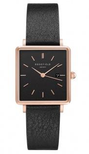 Rosefield Uhren in Zwickau: Damenuhr The Boxy Black Black Rosègold QBBR-Q10