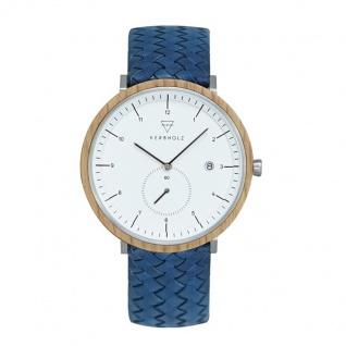 Kerbholz Uhren in Zwickau: Armbanduhr Anton Oak Woven Marine 4251240411569