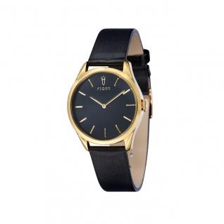 Fjord Uhren in Zwickau: Damenuhr Gold Lederband schwarz 927002416