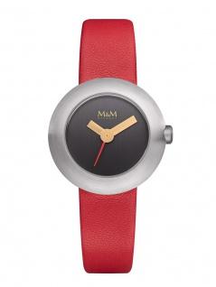 M&M Uhren in Zwickau: Damenuhr Lederband rot M11946-655 Basic-M Icon