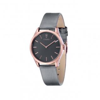 Fjord Uhren in Zwickau: Damenuhr rosè Lederband grau 927002517