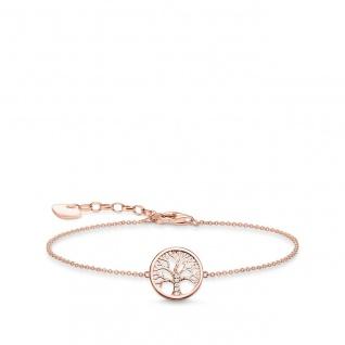 "Thomas Sabo Armband Silber rosè "" Lebensbaum"" A1828-416-14-L19v"