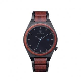 Kerbholz Uhren in Zwickau: Herrenuhr Paul Rosewood Blue 4251240414195