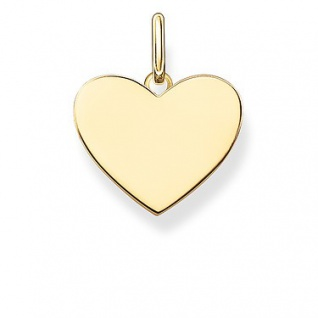 Thomas Sabo LBPE0002-413-12 Anhänger Love Coin Silber vergoldet , Herz, blank