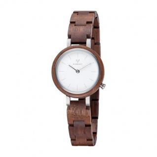 Kerbholz Uhren in Zwickau: Damenuhr Matilda Walnut Silver 4251240409344