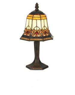 WOHNAMBIENTE Tiffany Tischlampe Art.-Nr.: YT 05 + P 7477 Schirm d= 16 cm, Leuchtenhöhe 32 cm, Fassung 1 x E14