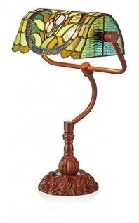 WOHNAMBIENTE Tiffany-Lampe Art.-Nr.: LP 4012 Schirmbreite 28 cm, Schirm schwenkbar, Fassung 1 x E27, Gesamthöhe der Leuchte 45 cm,