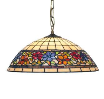 WOHNAMBIENTE Tiffany-Lampe, Hängelampe Art.-Nr.: LPTS 03 + C2 Schirm d= 40 cm, Aufhängung 60 cm, Fassung 2 x E27.