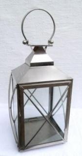 WOHNAMBIENTE Laterne Art.-Nr.: 62995 Maße: max. 25 x 25 cm, Höhe des Korpus 40 cm, mit Griff 54 cm.