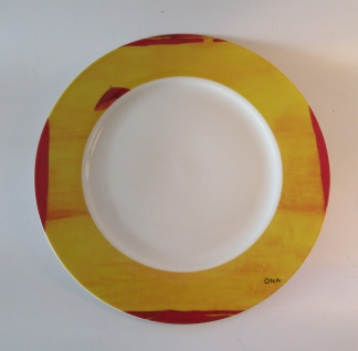 "WOHNAMBIENTE ^Porzellan, Geschirr Art.-Nr.: O 121 Speiseteller ""Fourmies a lómbrelle"" von Ona Maße: d= 27 cm.O 121"