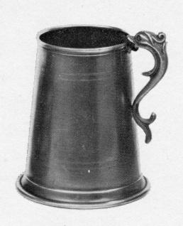 WOHNAMBIENTE Gebrauchs-Zinn Zinnbecher Art.-Nr.: 1-156 Maße: Höhe 10 cm, Volumen 0, 2 ltr.