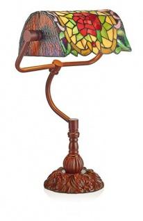 WOHNAMBIENTE Tiffany-Lampe Art.-Nr.: LP 4011 Schirmbreite 28 cm, Schirm schwenkbar, Fassung 1 x E27, Gesamthöhe der Leuchte 45 cm,