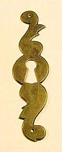 WOHNAMBIENTE Möbelbeschläge Art.-Nr.: 927 Maße: 34 x 132 mm (BxH), Messingblech