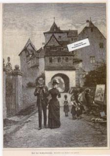 WOHNAMBIENTE Art.-Nr.: ST 81 Druckgraphik nach einem Gemälde von Robert von Forell von 1887 aus Allgemeine Illustrirte Zeitung - Ueber Land und Meer. Nr. 51, Seite 965. Blattgröße 27, 7 x 36, 6 cm, Bildgröße 22, 4 x 30, 8 cm.