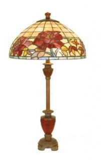 WOHNAMBIENTE Tiffany Tischlampe DT 33 + LPT 3821 Schirm d= 40 cm, Leuchtenhöhe 75 cm, Fassung 2 x E27