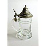WOHNAMBIENTE Zinnbecher Art.-Nr.: 1-185 O Maße: Höhe max. 10 cm, Durchmesser Glas 4 cm.