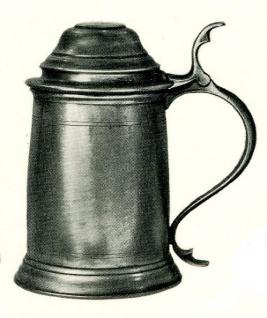WOHNAMBIENTE Zinnkrug Art.-Nr.: 1-200 Maße: Höhe 19 cm, Volumen 1, 0 ltr.
