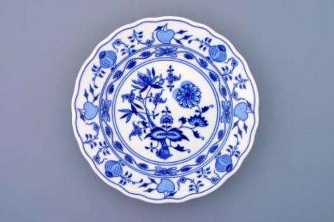 WOHNAMBIENTE Geschirr Porzellan Art.-Nr.: CB 002, Teller, tief Maße: d= 24 cm, h= 4, 5 cm.