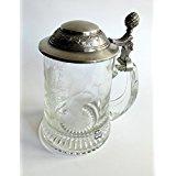 WOHNAMBIENTE Glaskrug mit Zinndeckel Art.-Nr.: 1-195 O Maße: h max. = 16 cm, Glas h= 13 cm, d max. 9, 5 cm, V= 0, 4 ltr.