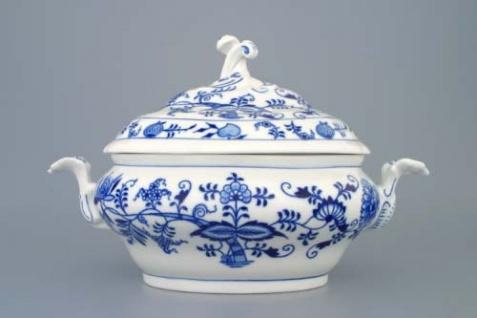 WOHNAMBIENTE Porzellan, Geschirr Art.-Nr.: CB 079, Ragoutschüssel mit Deckel, groß Maße: Volumen 1, 5 ltr, h= 20 cm, Form oval