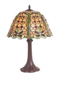 WOHNAMBIENTE Tiffany Tischlampe Art.-Nr.: MT 14079 A + P 345 L Schirm d= 36 cm, Leuchtenhöhe 52 cm, Fassung 1 x E27