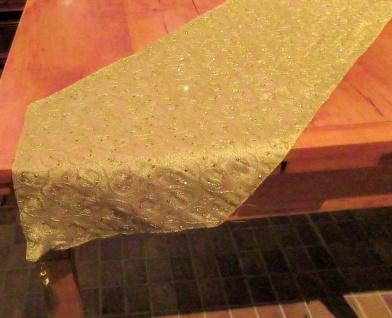 WOHNAMBIENTE Art.-Nr.: 12285 Tischläufer Gold in der Größe 33 x 180 cm