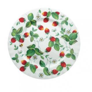 WOHNAMBIENTE Porzellan, Geschirr Art.-Nr.: 803 Dessertteller, auch Kuchenteller Erdbeer- (Strawberry) Geschirr von Roy Kirkham Maße: d= 20, 5 cm.