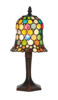 WOHNAMBIENTE Tiffany Tischlampe Art.-Nr.: Y 604 + P 7477 z. Zt. 2 St. lieferbar Schirm d= 16 cm, Leuchtenhöhe 32 cm, Fassung 1 x E14.