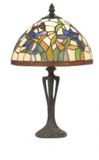 WOHNAMBIENTE Tiffany Tischlampe Art.-Nr.: Y 10392 + PBLM 11 S Schirm d= 25 cm, Leuchtenhöhe 41 cm, Fassung 1 x E27. - Vorschau