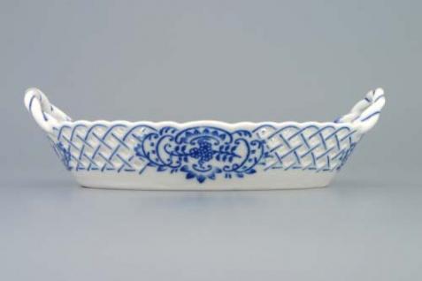 WOHNAMBIENTE Porzellan, Geschirr Art.-Nr.: CB 147, KörbchenII, durchbrochen. Maße: 19 x 12 cm, h= 4 cm, - Vorschau 2