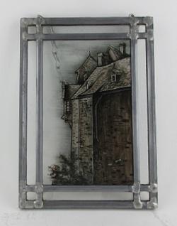 Wohnambiente Runkel Fensterbild Burg Runkel, Erker gen Osten