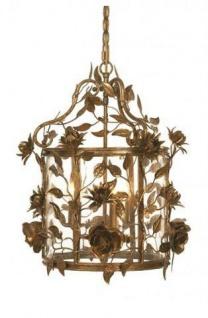 WOHNAMBIENTE Art.-Nr.: LPL 7916/3 Maße: Korpus ca. d= 45 cm, h= 50 cm, Gesamthöhe der Leuchte incl. Baldachin 130 cm.