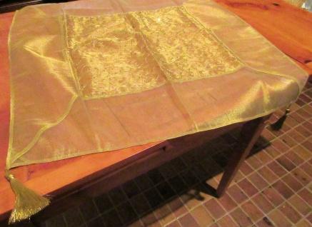 WOHNAMBIENTE Art.-Nr.: 12273 Tischdecke Gold in der Größe 80 x 80 cm