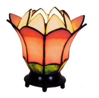WOHNAMBIENTE Tiffany-Lampe, Tischlampe Art.-Nr.: LT 23 z. Zt. 6 St. lieferbar Schirm d= 16 cm, Leuchtenhöhe 15 cm, Fassung 1 x E14