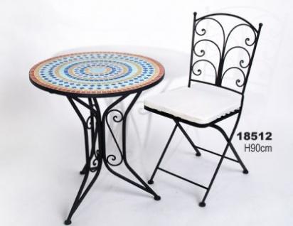 WOHNAMBIENTE Gartenmöbel Art.-Nr.: 18512 klappbar, komplett mit Kissen, Gestell Eisen, schwarz lackiert, Höhe 90 cm.