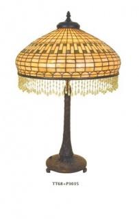 WOHNAMBIENTE Tiffany Tischlampe Art.-Nr.: TT 68 + P 3035 Schirm d= 45 cm, Leuchtenhöhe 70 cm, Fassung 2 x E27