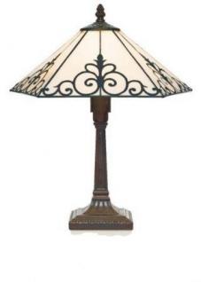 WOHNAMBIENTE Tiffany Tischlampe Art.-Nr.: LT 156 B + P 533 M Maße: d= 36 cm, h= 40 cm, Fassung 1 x E14.
