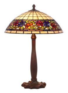 WOHNAMBIENTE Tiffany-Lampe, Tischlampe Art.-Nr.: LPTS 03 + P 927 Schirm d= 40 cm, Leuchtenhöhe 64 cm, Fassung 2 x E27