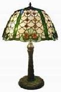 WOHNAMBIENTE Tiffany Tischlampe Art.-Nr.: 80351 Schirm d= 43 cm, Leuchtenhöhe 52 cm, Fassung 1 x E27