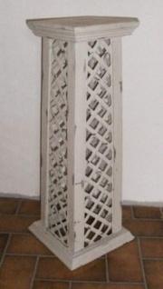 WOHNAMBIENTE Säule Art.-Nr.: S 4245 Maße Sockel 25 x 25 cm, Säulendach 20, 5 x 20, 5 cm, Gesamthöhe 65 cm.
